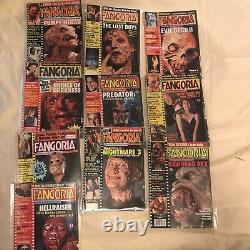 110 Issue Lot- #1 thru 110 Fangoria Magazine Collection- Zombies Monsters Aliens
