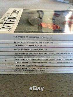 12 Issues The World of Interiors Magazine 1993-1998 Design Decor Art Home Garden
