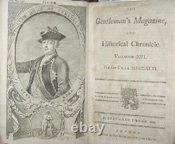 1746 Gentleman's Magazine Rare Map New England Boston Massachusetts Maine Canada