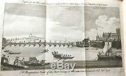1750 Universal Magazine Rare Engravings Tobacco Sir Walter Raleigh Colonies Maps
