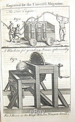 1751 UNIVERSAL MAGAZINE RARE ENGRAVINGS GLOBE COMPASS MACHINES FIRE ENGINE &c