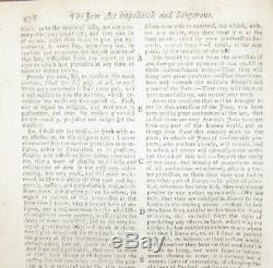 1753 GENTLEMAN'S MAGAZINE October JEWS BILL ANTI-SEMITISM LOUISIANA BOSTON &c
