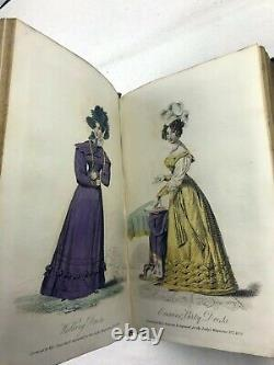 1826 1827 1829 Lady's Magazine Set Complete with Hand Coloured Engravings Rare