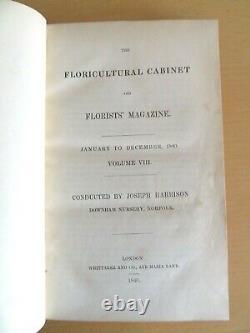 1840 Floricultural Cabinet & Florists Magazine 13 Col Plts Flora Fauna 1st Ed