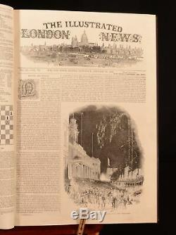 1844-1883 4vol Illustrated London News with The Graphic the Penny Magazine