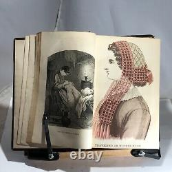 1863 Godeys Ladys Book and Magazine Amazing Fashion Illustrations