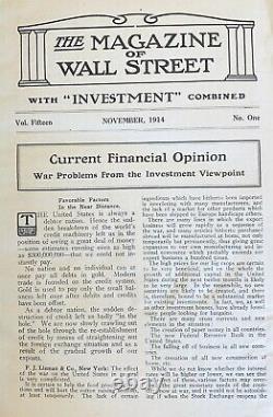 1914-1915 Magazine of Wall Street Richard Wyckoff Stock Market Stock Exchange