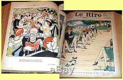 1928 Le Rire, French magazine collection, Art Deco illustrators, humour & satire