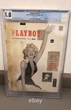 1953 PLAYBOY V1 #1 HMH CGC Graded 1.0 MARILYN MONROE