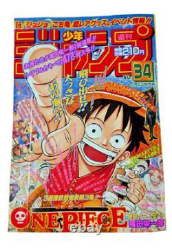 1997 Original Shonen Jump Vol 34 ONE PIECE First Episode Weekly Magazine Vintage