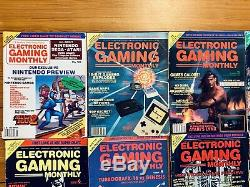 45 Electronic Gaming Monthly Magazines EGM Lot No 1-6, 8-28, 30-38, 42-50 Extras