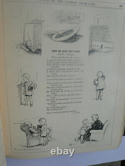 A. A. Milne. When We Were Very Young. Punch Magazine. 1924 1st. Leather. E. H. Shepard