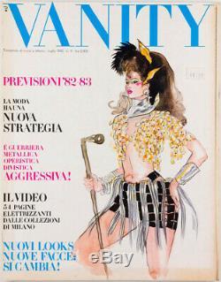 ANTONIO LOPEZ fashion illustration VANITY MAGAZINE No. 3 July 1982 by Anna Piaggi