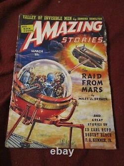 Amazing Stories March 1939 Isaac Asimov first story, Robert Bloch, Eando Binder