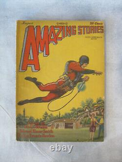Amazing Stories Vol 3 #5 1928 1st Buck Rogers Pulp Magazine Philip Nowlan illus