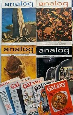 Analog Science Fiction / Galaxy DUNE Complete Set Herbert VG Nice lot