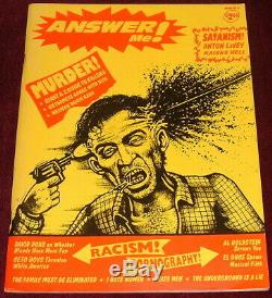 Answer Me Magazine All 4 Original Issues. Jim & Debbie Goad USA Rare