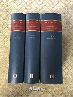 BLK NOVEMBER $CUT STEINITZ INTERNATIONAL CHESS MAGAZINE 1885-91 Olms 3v. Judaica