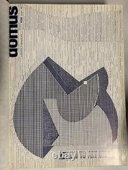 Bound Hardcover DOMUS Magazine Mid Century Modern Original 1966 Vol 15 7 Issues