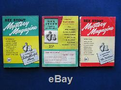 COMPLETE SET of All 9 Issues of REX STOUT'S MYSTERY MAGAZINE Rarely Found