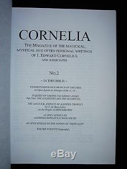 CORNELIA Magazine J Edward Cornelius Issues 1-9 OTO Thelema A. A. Crowley Occult