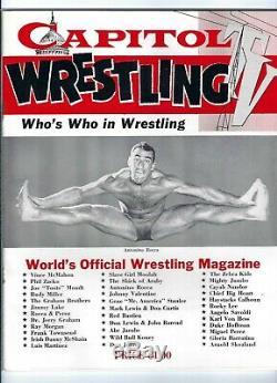 Capitol Wrestling TV Who's Who 1950 Vince McMahon Sr. Antonino Rocca pre WWWF