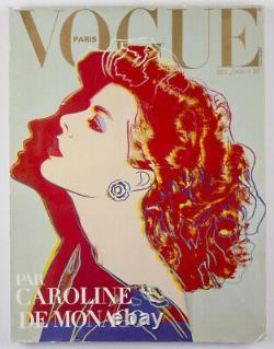 Caroline de Monaco ANDY WARHOL Guy Bourdin PARIS VOGUE magazine December 1983