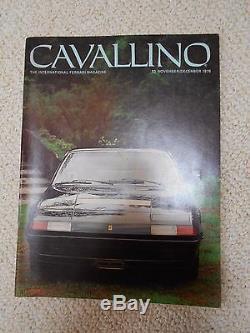 Cavallino Magazine November/December 1978 Ferrari Magazine