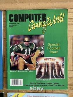 Computer Gaming World & Computer Games Magazine Vintage Lot Of 91986-89