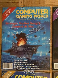 Computer Gaming World Magazine Vintage Lot Of 12Complete Year Of 1992