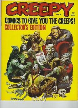 Creepy #1, Warren Horror Magazine Jack Davis Cov Frank Frazetta 1964, 9.8 Nm/mt