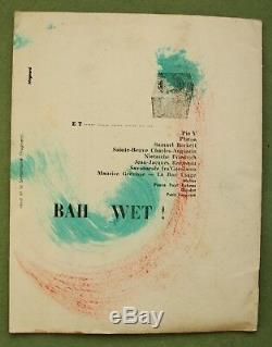 DAILY BUL 7, 1958 Belgian CoBrA avant-garde magazine Pol BURY, unique copy