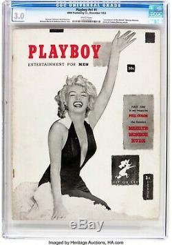 December 1953 Playboy Marilyn Monroe #v1 #1 HMH Magazine CGC 3.0 White Pages