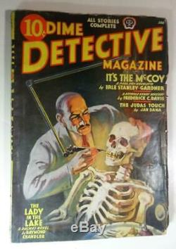 Dime Detective Pulp Jan 1939 Raymond Chandler Lady In The Lake First Edition