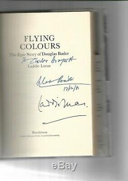 Douglas Bader/laddie Lucas Hand Signed Hardback Book Flying Colours 1st Edition