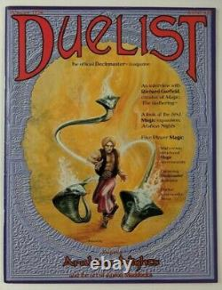Duelist Magazine #1 Arabian Nights Magic The Gathering MTG with Poster Deckmaster