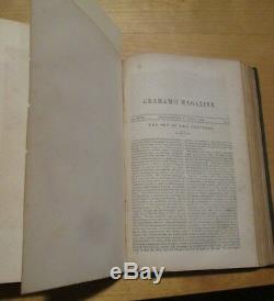 E A POE 1sts IMP OF THE PERVERSE & SYSTEM OF DR. TARR. 1845 Graham's Magazine