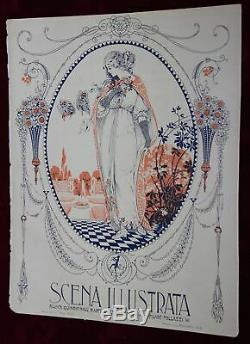 EXRare 4 X 1915 ORIG SCENA ILLUSTRATA MAGAZINES Art Nouveau Art Deco AMAZING