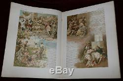 Exrare 1893 Grasset Lithograph L'illustration Art Nouveau Magazine Christmas