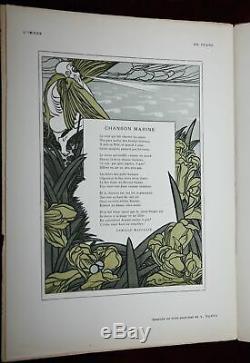 Exrare Orig' 1897 Paul Berthon Lithograph L'image Art Nouveau Magazine Beauty