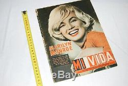 Extremely RARE MARILYN MONROE MAGAZINE COVER inner pics August 1961 Complete