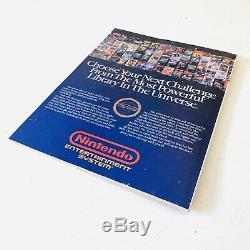 First Issue NINTENDO POWER Vol. 1 July/August 1988 Super Mario 2 Zelda Map Poster