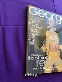 GEORGE MAGAZINE JFK Jr. 1st Issue Oct-Nov. 1995 -Cindy Crawford Madonna Politics