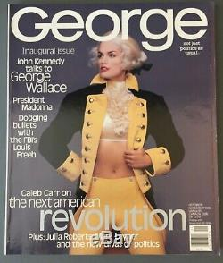 George Magazine, Inaugural/Premier Issue, Cindy Crawford Cover, Madonna Inside