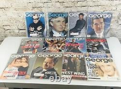 George Magazine JFK Kennedy Jr February 1997 Trump Gates 1995-2001 57 issue Lot