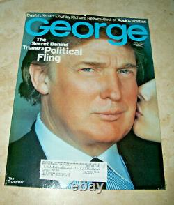 George Magazine NEAR COMPLETE COLLECTION (52) Issues Trump JFK 1997 Lot VG+