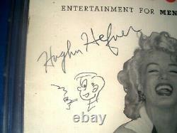 HUGH HEFNER Signed 1953 PLAYBOY #1 Page 3 Copy HMH CGC 3.5 VG- MARILYN MONROE
