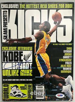 Kobe Bryant signed auto PSA DNA 2000 Slam Magazine Kicks HOF Mamba autograph