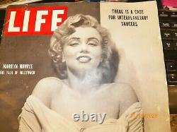 LIFE Magazine BEAUTIFUL MARILYN MONROE COVER 1952 NO Mailing Label