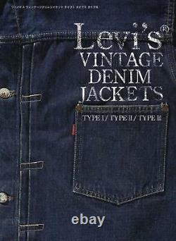 Levi's Vintage Denim Jackets Rare Design Magazine Book Collection TYPE 1-3 Japan